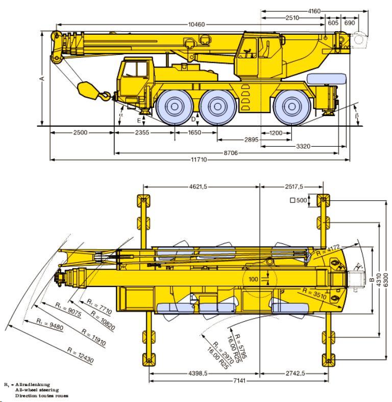 Rozměry LTM1050/1